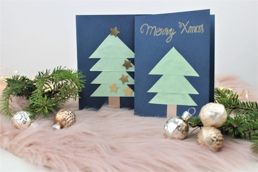 Weihnachtskarten Basteln Tannenbaum.Weihnachtskarte Basteln Einfache Diy Idee Diy Geschenke