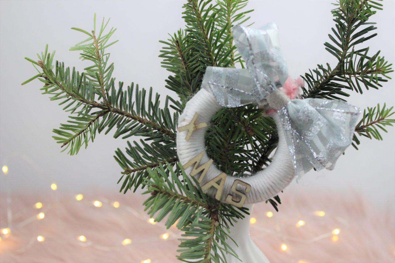 Diy Weihnachtsbaumschmuck Aus Vorhang Ringen Winter Deko