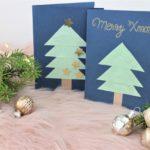 Selbst gebastelte Weihnachtskarte.