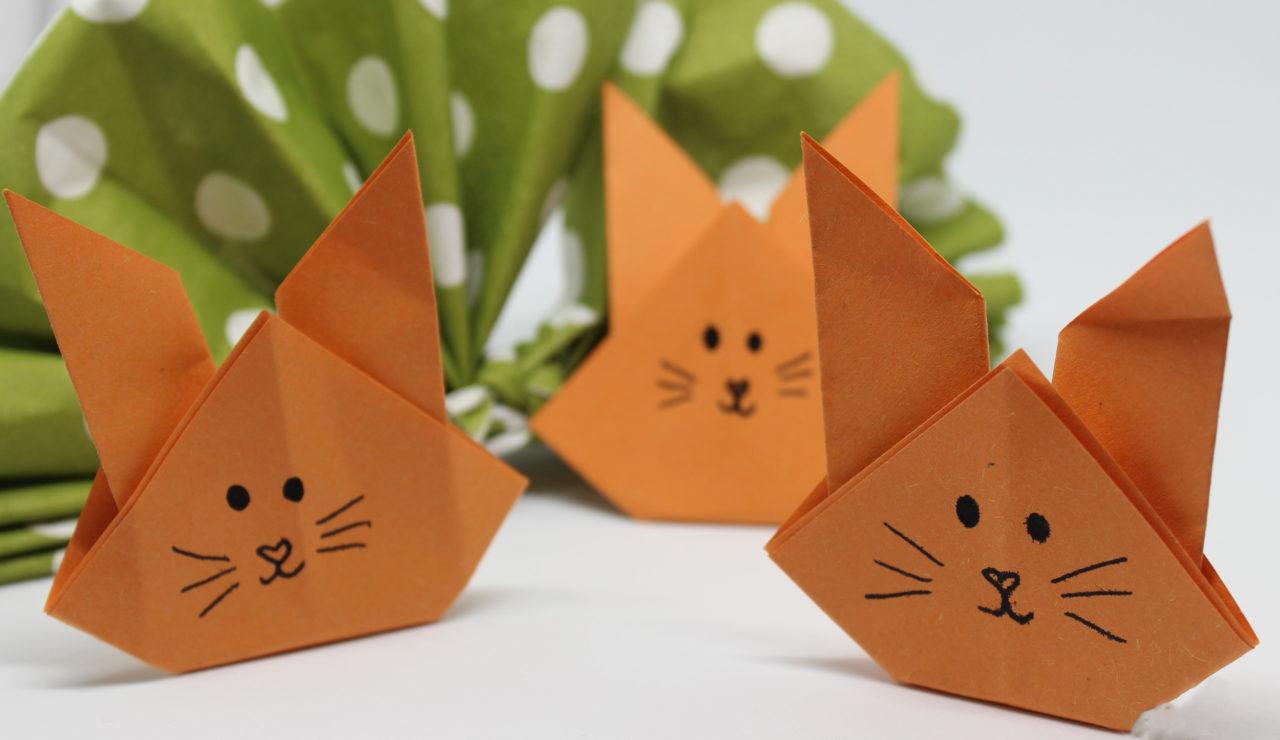 Origami Osterhase Faltanleitung Einfach : osterhasen falten origami h schen fr hlings deko ~ Watch28wear.com Haus und Dekorationen