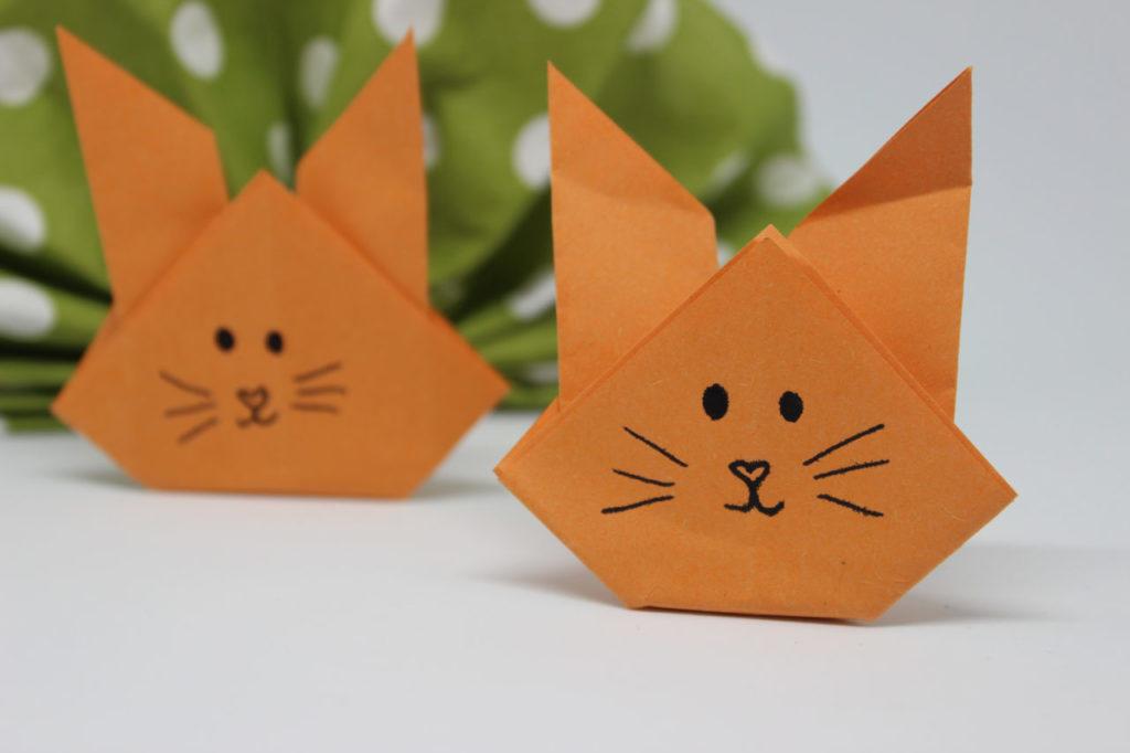 osterhasen falten origami h schen fr hlings deko. Black Bedroom Furniture Sets. Home Design Ideas