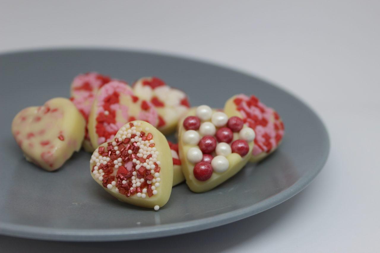 Herz Pralinen Fur Valentinstag Selber Machen Diy Geschenke